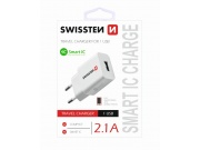 SÍŤOVÝ ADAPTÉR SMART IC 1x USB 2,1 A POWER BÍLÝ