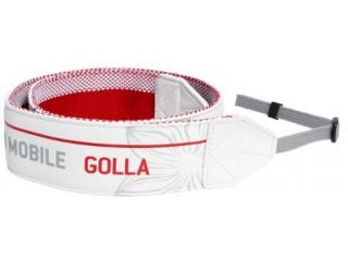 Designový popruh na zrcadlovky LENSY - bílá - camera strap