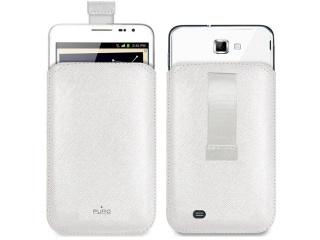 Elegantní tenké pouzdro z eko-kůže pro Galaxy NOTE 2, bílé