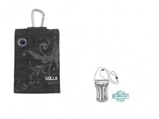 Stylové pouzdro na iPhone + DÁREK vodotěsné pouzdro, černo/fialové