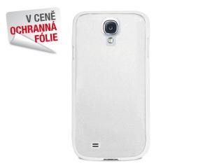 Zadní kryt na Galaxy S4, PURO Metal cover, bílý + Ochranná fólie