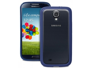 Zadní kryt na Galaxy S4, PURO Clear cover - modrý