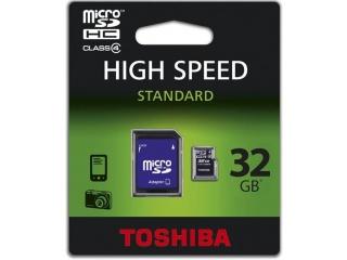 TOSHIBA microSDHC 32GB CLASS4 + adaptér