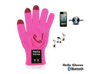 Dotykové rukavice s připojením bluetooth, velikost L, růžové