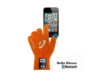 Dotykové rukavice s připojením bluetooth, velikost M, oranžové