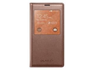 Originální pouzdro Book s okénkem na Samsung Galaxy S5 (SM-G900) , zlaté