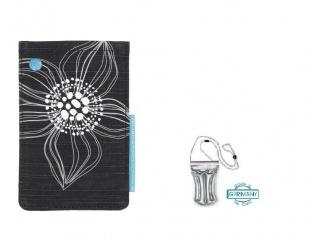 Stylové pouzdro na iPhone + DÁREK vodotěsné pouzdro, černo/bílé