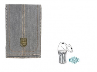 Stylové pouzdro na iPhone + DÁREK vodotěsné pouzdro, šedé