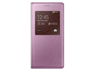 Flipové pouzdro S-view pro Samsung Galaxy S5 mini, růžová