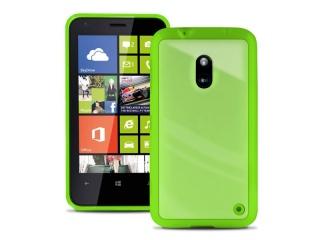 Zadní kryt na Nokia Lumia 620, PURO Clear cover - zelená