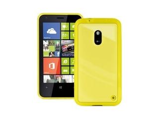 Zadní kryt na Nokia Lumia 620, PURO Clear cover - žlutá