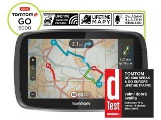 TomTom GO 5000 Europe Traffic Lifetime mapy, Speak&Go