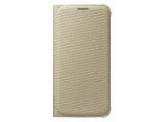 Samsung flipové pouzdro s kapsou EF-WG920B pro Samsung Galaxy S6 (SM-G920F), zlatá