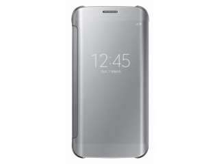 Samsung flipové pouzdro Clear View EF-ZG925B pro Samsung Galaxy S6 Edge (SM-G925F), stříbrná