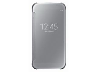 Samsung flipové pouzdro Clear View EF-ZG920B pro Samsung Galaxy S6 (SM-G920F), stříbrná