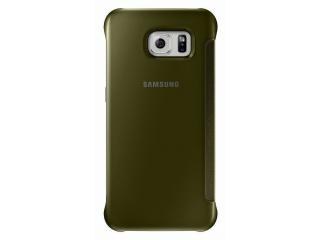 Samsung flipové pouzdro Clear View EF-ZG920B pro Samsung Galaxy S6 (SM-G920F), zlatá