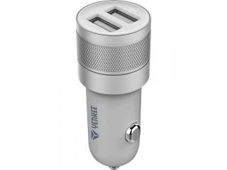 Duální USB nabíječka do auta 4,8 A stříbrná