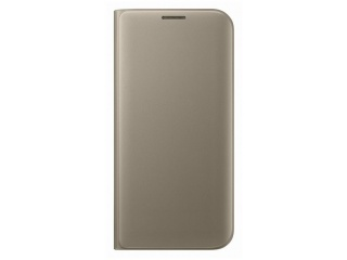 Samsung flipové pouzdro pro Galaxy S7 Edge Gold